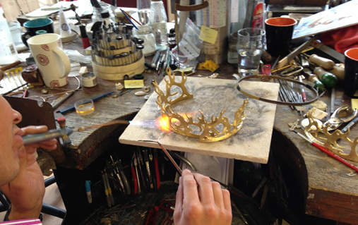 The making of Joffrey's crown