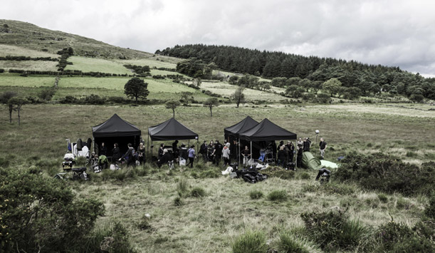 Tournage de Game of Thrones - au pied des montagnes de Mourne ©HBO