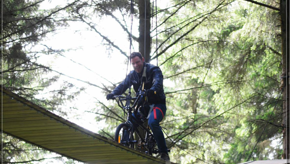 "The BMX ride with a difference! provided by <a href=""http://www.zipit.ie/welcome-to-zipit-forest-adventures"" >Zipit Forest Adventures</a>"