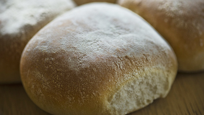 A fluffy Waterford Blaa, straight from the oven at M&amp;D Bakery. Photo: Shane ONeill