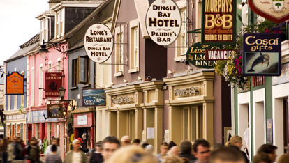 Dingles bustling Strand Street, County Kerry