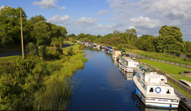 Houseboats on Grand Canal, Shannon Harbour