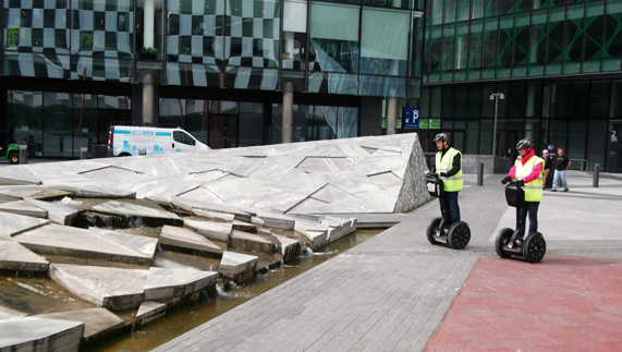 "A segway tour around Dublin's docklands provided by <a href=""http://www.glidetours.ie/"" >Glide Tours </a>"