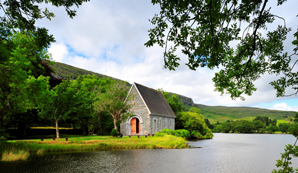 "St Finbarr's Oratory in Gougane Barra, County Cork provided by <a href=""http://www.shutterstock.com/gallery-179284p1.html"" >Walshphotos's/Shutterstock</a>"