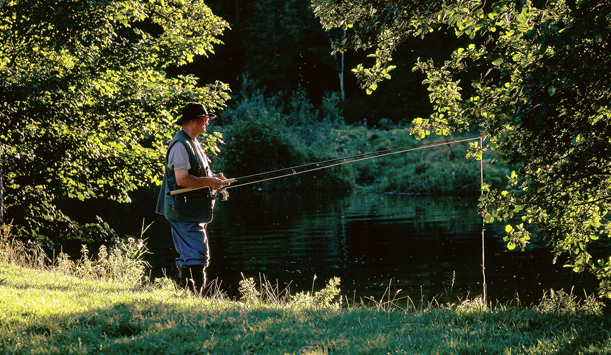 Angling at Inistioge at the River Nore