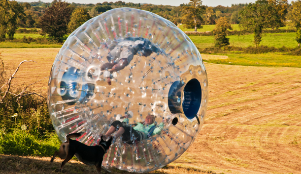Have a ball zorbing, at Ballymahon