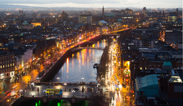 Dublin City comes out to play at night time
