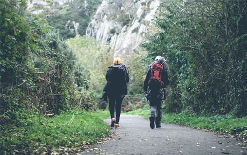 Climbers in Dalkey