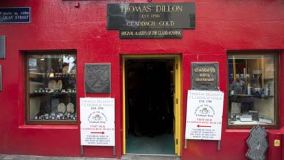 Thomas Dillon's Claddagh Ring Museum in Galway City