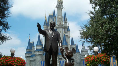 Walt Disney's Statue at Disneyland