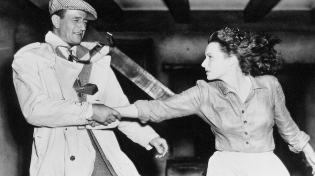 John Wayne and Maureen O' Hara in The Quiet Man