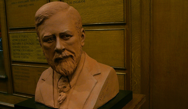 Bram Stoker's bust in St Anne's Church, Dublin city