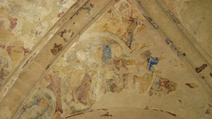 Wall paintings on the walls of Cormac&#39;s Chapel