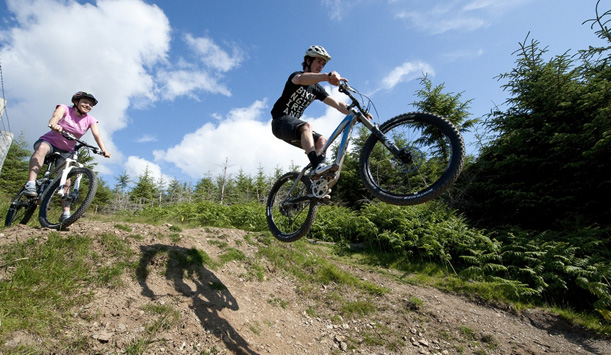 Mountain biking outside of Belfast City