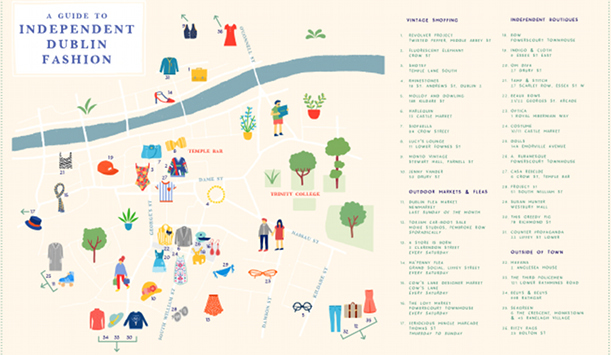 The map of Dublin's boutiques – for larger version please click below