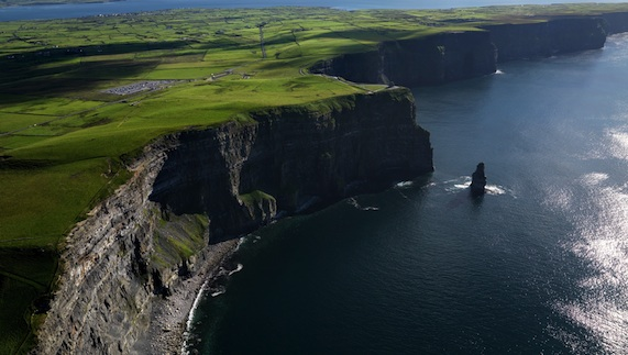 At their highest point, the Cliffs of Moher reach 214 metres (700 feet) above sea level