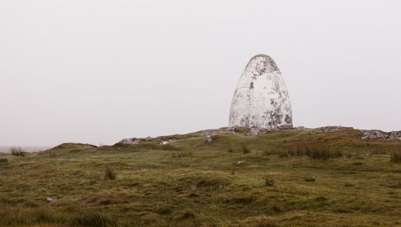 The Alcock and Brown memorial cairn at Derrygimlagh