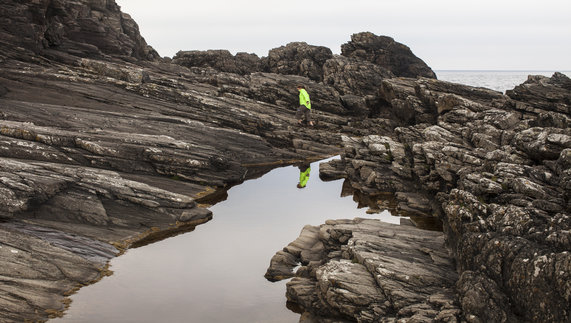 Rocks below cliffs, Malin Head