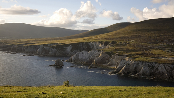 Chalky coastal cliffs on County Mayo's coast