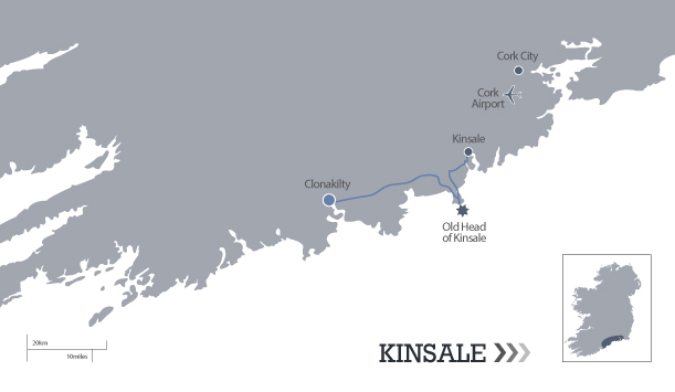The route from Kinsale to Clonakilty