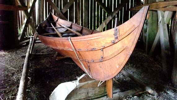 Viking long boat at the National Heritage Park