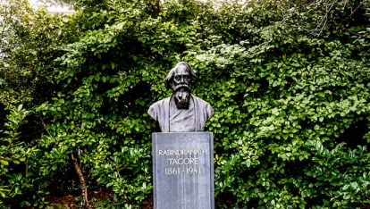 "The bust of the Indian poet Rabindranath Tagore in St Stephen's Green is the only non-Irish statue in the park to date! Image  provided by <a href=""http://www.streetsofdublin.com/"" >William Murphy </a>"