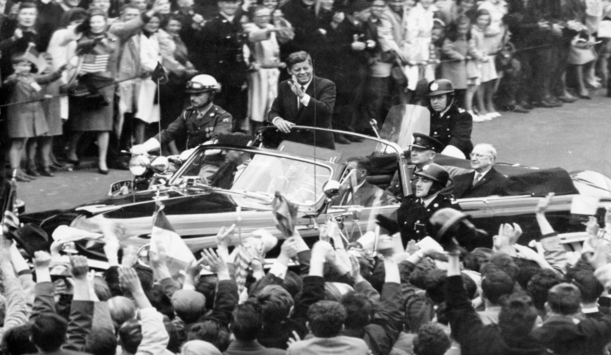 "JFK's warm welcome home provided by <a href=""http://www.irishtimes.com/"" >Irish Times</a>"