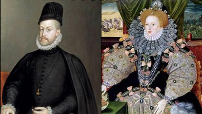 Retrato de Felipe II de Sofonisba Anguiosciola y de Isabel I de George Gower