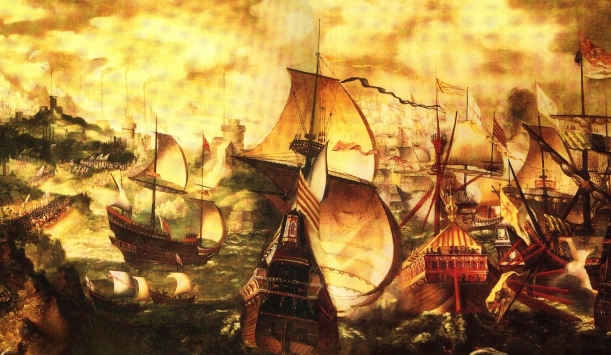 Óleo sobre la Armada de Nicholas Hilliard