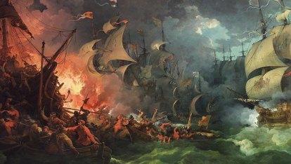 Derrota de la Armada Invencible de Philippe-Jacques de Loutherbourg 1796