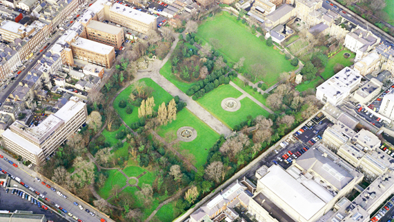 Aerial View of the Iveagh Gardens, Dublin City Centre