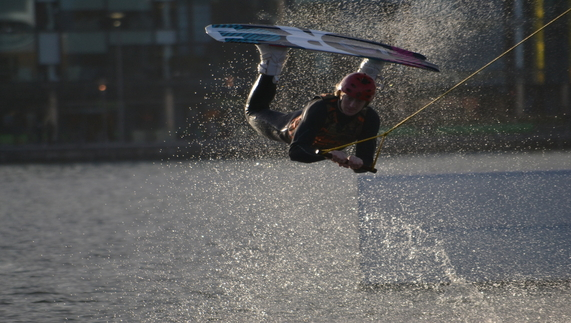 Wakeboarding at Grand Canal Dock
