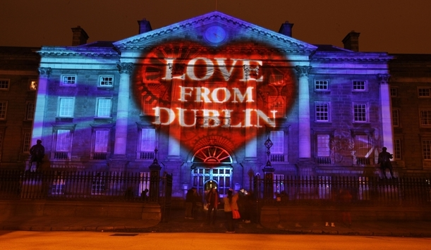 Light projections on Trinity College