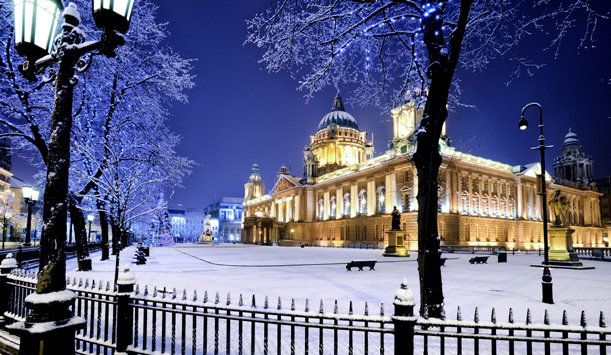 Belfast City Hall at Christmas time