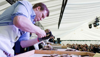 Aw shucks: shucking at the Galway Oyster Festival