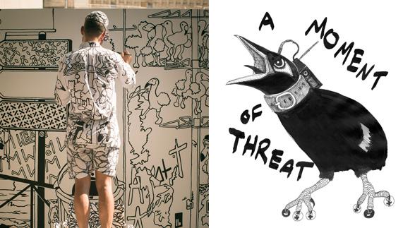 """Ingo Giezendanner - Van Gogh 2013 (L); Garrett Phelan - A Moment of Threat (R) aangeboden door <a href=""""http://www.eva.ie/"""" >EVA INT</a>"""
