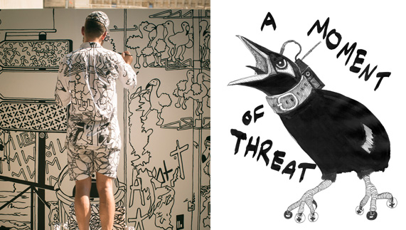 "Ingo Giezendanner - Van Gogh 2013 (L); Garrett Phelan - A Moment of Threat (R) fourni par <a href=""http://www.eva.ie/"" >EVA INT</a>"