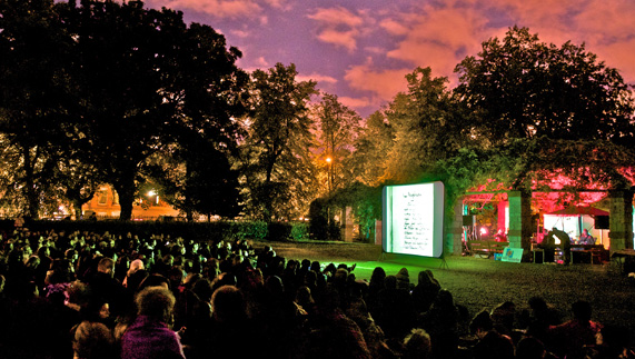 One of Happenings' al fresco cinema pop-ups