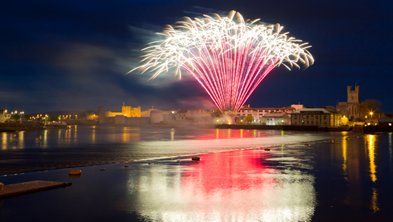 Fireworks in Limerick City, County Limerick