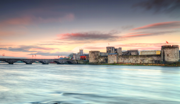 King John's Castle at sunset, Limerick County