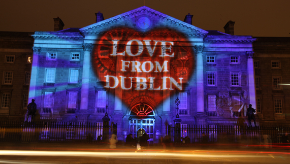 Big love from Dublin on New Year's Eve