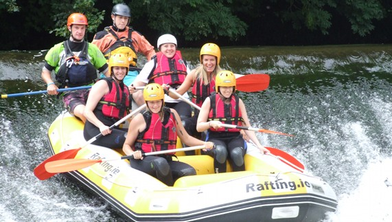 Rafting down the River Liffey