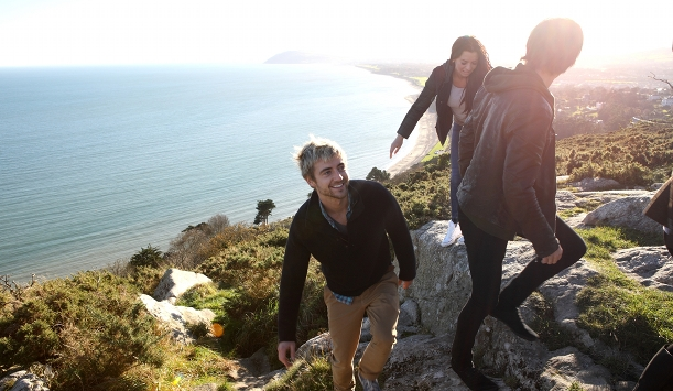 Climbing Killiney Hill in County Dublin
