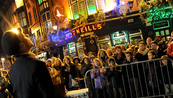 Party atmosphere in Dublin for New Year's Eve