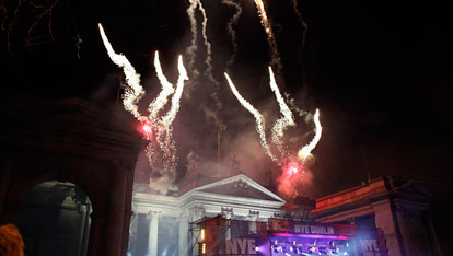The NYE festival fireworks in Dublin
