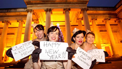 Performers at NYE on College Green, Dublin