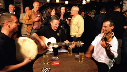 Traditional Irish pub sessions