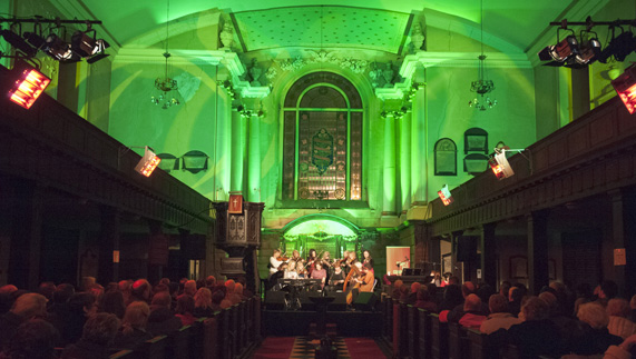 "St Werburgh's Church, a venue for TradFest 2015 provided by <a href=""http://www.templebartrad.com/"" >TradFest </a>"