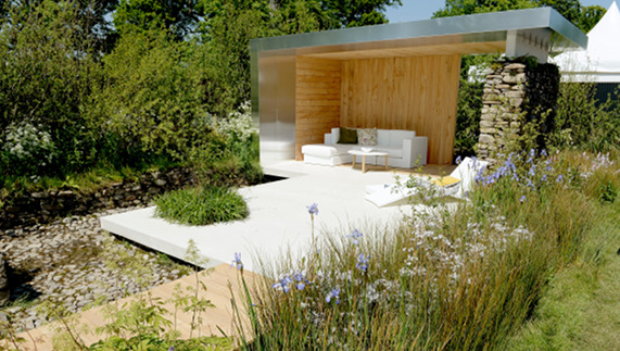 Gerard Mullen's winning garden at Bloom 2013
