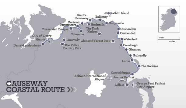 Causeway Coastal Route Itinerary Map